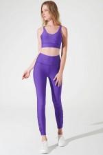Áo Tập Gym Yoga Dây Đan Chéo Lưng Purple S'angria Knotte