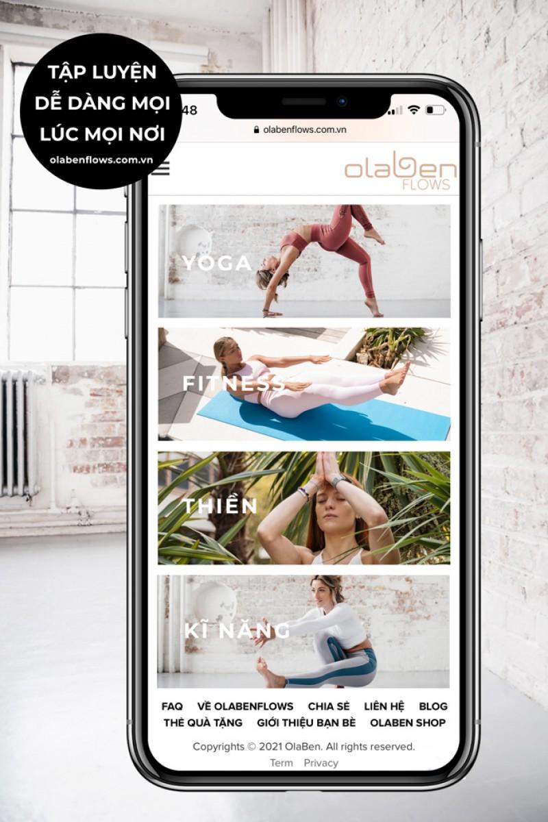 OLABENFLOWS SEMI-ANNUAL MEMBERSHIP Thẻ Tập Luyện Online 6 Tháng ( Tiết kiệm 15%)